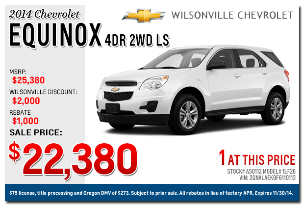 new 2015 chevrolet equinox sales specials portland. Cars Review. Best American Auto & Cars Review
