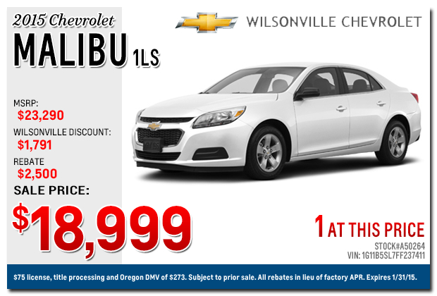 new 2015 chevy malibu discount special offers portland or. Cars Review. Best American Auto & Cars Review